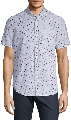 Original Penguin Tree-Print Short-Sleeve Shirt