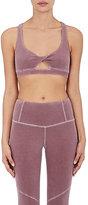 Electric & Rose Women's Cotton-Blend Sports Bra-BURGUNDY