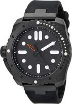 """Vestal Men's RSD3S02 """"Restrictor"""" Diver 50 Stainless Steel and Silicone Watch"""