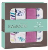 Aden Anais Aden + Anais & 4-Pack Wink Swaddle Blanket in Pink