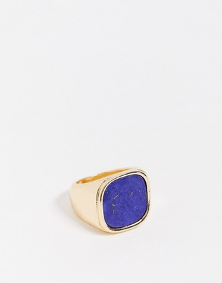 NY:LON Blue and Gold Cocktail Ring