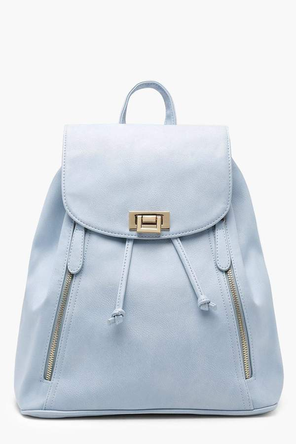 boohoo Zip And Lock Rucksack