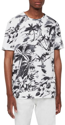 AllSaints Seabreeze Tropical Crew Neck T-Shirt