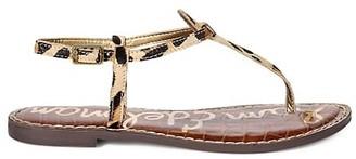 Sam Edelman Gigi T-Strap Leopard-Print Calf Hair Thong Sandals