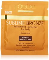L'Oreal Sublime Bronze Self-Tanning Body Towelettes, 6 Count