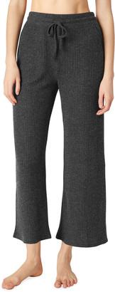 Beyond Yoga Waffle-Knit Wide-Leg Cropped Pants