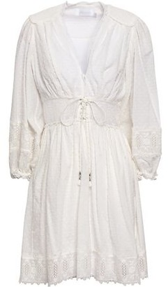 Zimmermann Embroidered Fil Coupe Cotton Mini Dress