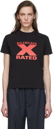 Balenciaga Black X-Rated Fitted T-Shirt