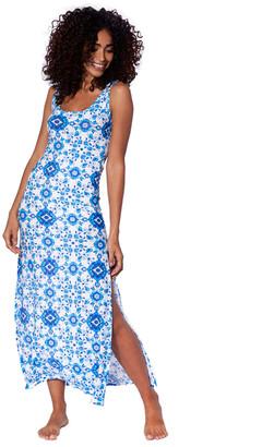 MC2 Saint Barth Maiolica Print Long Tank Dress