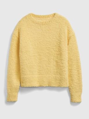 Gap Kids Crewneck Cropped Fuzzy Sweater