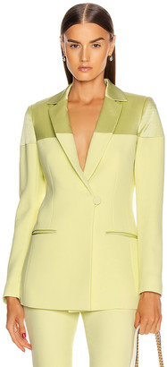 Cushnie Fitted Jacket in Celery | FWRD