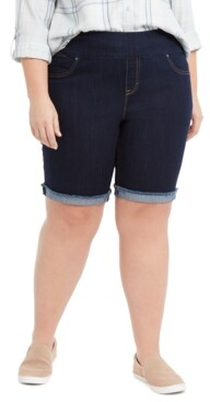 Style&Co. Style & Co Plus Size Ella Denim Cuffed Shorts, Created for Macy's