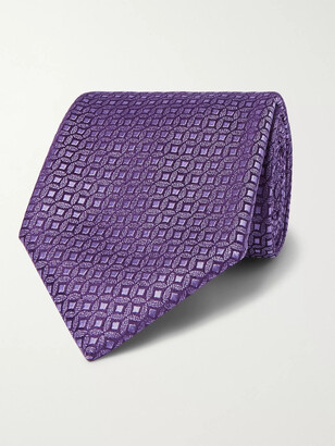 Charvet 8.5cm Silk-Jacquard Tie - Men - Purple