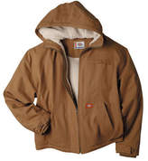 Dickies Men's Sanded Duck Sherpa Lined Hooded Jacket Tall