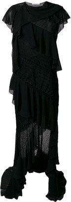 Philosophy di Lorenzo Serafini Asymmetrical ruffle embellished dress