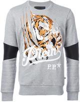 Philipp Plein Blood Tiger sweatshirt - men - Cotton/Polyester/Polyurethane - XL