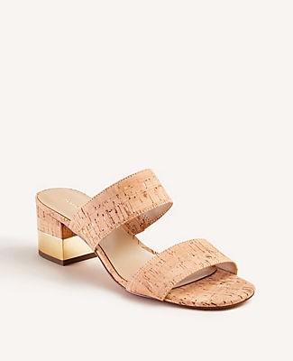 Ann Taylor Liv Cork Block Heel Sandals