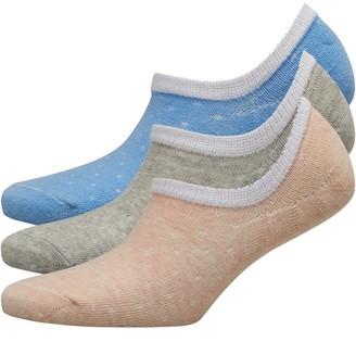 Fruit Cake Fruitcake Womens Invisible Trainer Liners Ditsy Spot/Pink Grey Blue