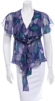 Anna Sui Silk Printed Top
