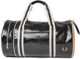 Fred Perry Vintage Inspired Black & Gold Classic Barrel Bag