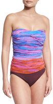 Gottex Horizon Printed Bandeau One-Piece Swimsuit