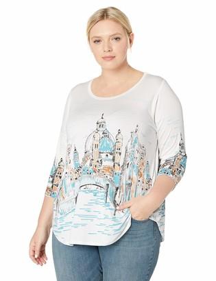 Karen Kane Women's Plus Size Florence River Shirttail TEE
