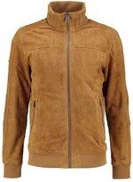Superdry Hutch Leather Jacket Camel