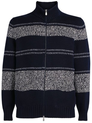 Brunello Cucinelli Knit Striped Cardigan