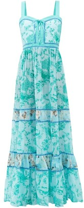 Evi Grintela Magnolia Countryside-print Cotton Maxi Dress - Blue Print