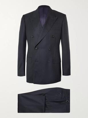 Kingsman Harry's Navy Pinstriped Super 120s Wool Suit - Men