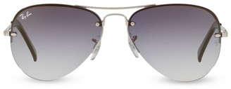 Ray-Ban RB3449 59MM Semi-Rimless Aviator Sunglasses