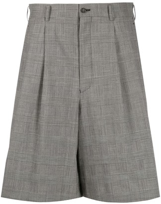 Comme des Garcons Check Pleated-Front Bermuda Shorts