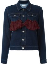 Au Jour Le Jour tassel detail denim jacket - women - Cotton/Polyester/Spandex/Elastane - 42