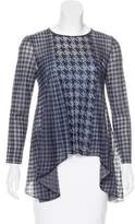 Christian Dior Houndstooth Knit Top