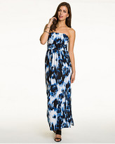 Le Château Brushstroke Print Knit Maxi Dress