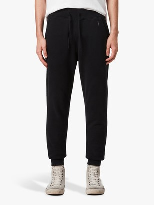 AllSaints Raven Cuffed Tracksuit Bottoms, Black
