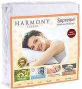 Harmony Linens Premium Waterproof Mattress Protector - Dust Mite and Bacteria Resistant - Hypoallergenic - Fitted Deep Pocket - (Full)