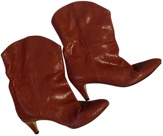 Isabel Marant Red Leather Boots