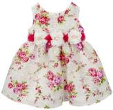 Rare Editions Newborn Baby Girls Party Dress Floral Organza
