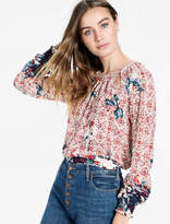 Lucky Brand Braided Knit Top