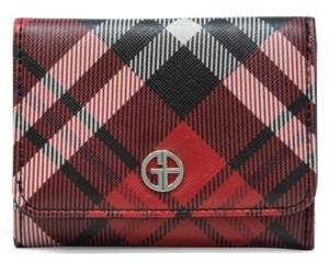 Giani Bernini Saffiano Plaid Trifold Wallet, Created for Macy's