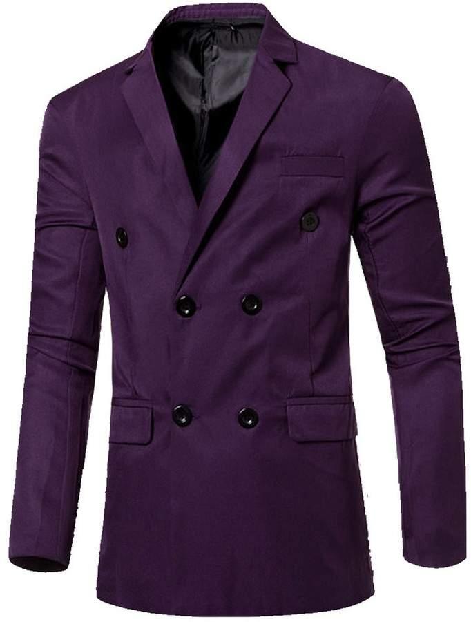 Legou Men's Casual Slim Fit Candy Colors Blazer Suit Jacket XXL
