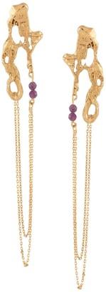 Loveness Lee Disoca chain-drop earrings