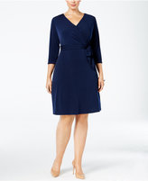 NY Collection Plus Size Faux-Wrap Dress