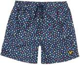 Lyle & Scott Boys Spot Print Swim Trunk