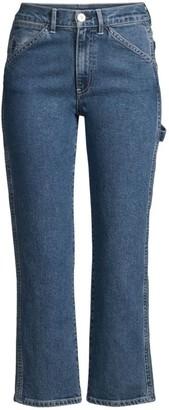 3x1 Rose Mid-Rise Straight-Leg Carpenter Jeans