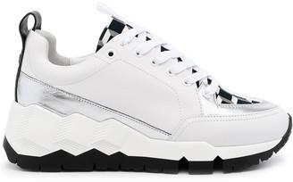 Pierre Hardy Metallic-Panel Low-Top Sneakers