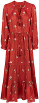 Ulla Johnson Crimson Cotton Floral Clementine Dress