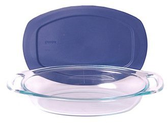 Pyrex Baking Dish with Blue Cover