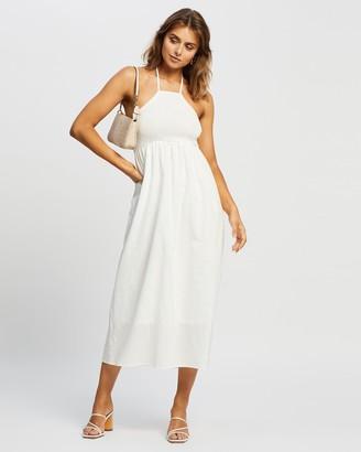 Reverse Halter Midi Dress
